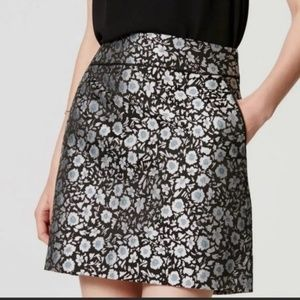 Loft size 4 Floral Mini Skirt with pockets